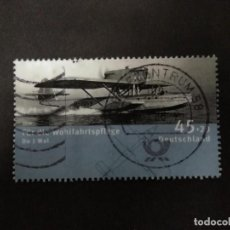 Francobolli: ALEMANIA 2008. FLIGHT BOAT DORNIER TH J WHALE (1923). YT:DE 2497,. Lote 218542676