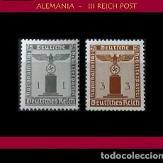 Sellos: LOTE DE SELLOS DEL III REICH ALEMAN, NACIONAL SOCIALISTA / NAZI / ESVASTICA. Lote 227797255
