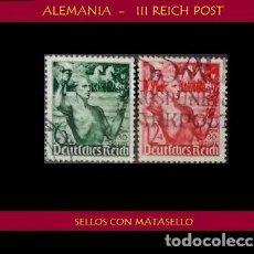 Sellos: LOTE DE SELLOS DEL III REICH ALEMAN, NACIONAL SOCIALISTA / NAZI / ESVASTICA. Lote 218672577