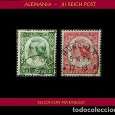 Sellos: LOTE DE SELLOS DEL III REICH ALEMAN, NACIONAL SOCIALISTA / NAZI / ESVASTICA. Lote 218672700