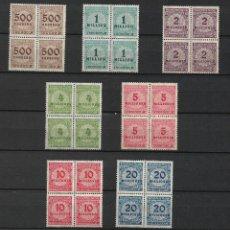 Sellos: ALEMANIA REICH 1923 MICHEL 313/319 ** - 17/18. Lote 186079907