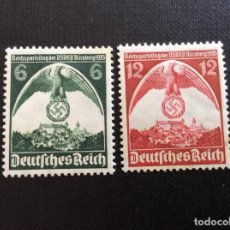 Sellos: ALEMANIA IMPERIO Nº YVERT 545/6*** AÑO 1935. 7º CONGRESO NACIONAL-SOCIALISTA, EN NUREMBERG. Lote 218941561