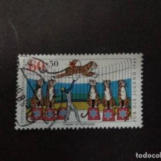 Timbres: ALEMANIA BERLIN 1989. TIGERS AND TAMER. YT:DE-BE 799,. Lote 219051448
