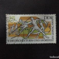Sellos: ALEMANIA DDR 1969. 5TH GERMAN GYMNASTICS AND SPORTS FESTIVAL, LEIPZIG. YT:DD 1183,. Lote 219239356