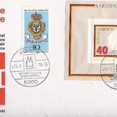 Sellos: 1980 SOBRE FERIA DEL MUEBLE DE COLONIA CON MATASELLOS CONMEMORATIVO HB BUNDESREPUBLIK DEUSTCHLAND. Lote 219903560