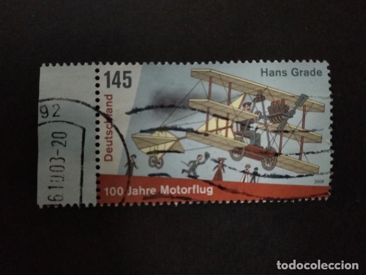 ALEMANIA FEDERAL 2008. CENTENARY OF HANS GRADE'S FIRST POWERED FLIGHT IN GERMANY. MI:DE 2698, (Sellos - Extranjero - Europa - Alemania)