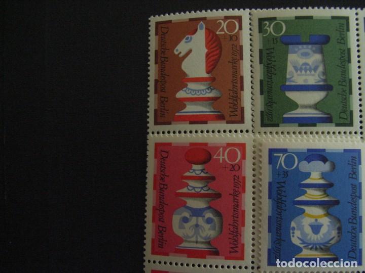 ALEMANIA BERLIN Nº YVERT 400/3*** AÑO 1972. PIEZAS DE AJEDREZ (Sellos - Extranjero - Europa - Alemania)