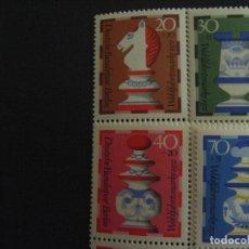 Sellos: ALEMANIA BERLIN Nº YVERT 400/3*** AÑO 1972. PIEZAS DE AJEDREZ. Lote 221516513