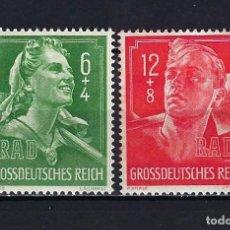 Sellos: 1944 ALEMANIA IMPERIO REICH MICHEL 894/895 YVERT 819/820 JOVENES NAZIS MNH** NUEVOS SIN FIJASELLOS C. Lote 221578255