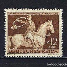 Sellos: 1943 ALEMANIA IMPERIO REICH MICHEL 854 YVERT 775 CABALLO DE CAZA MNH** NUEVO CON GOMA SIN FIJASELLOS. Lote 221578680