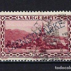 Sellos: 1927 ALEMANIA SARRE OCUPACIÓN FRANCIA SAARGEBIET SOBREIMPRESO DIENSTMARKE MICHEL 18 YVERT 22 USADO. Lote 221579138