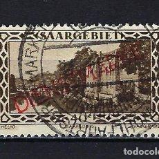 Sellos: 1927 ALEMANIA SARRE OCUPACIÓN DE FRANCIA SAARGEBIET SOBREIMPRESO DIENSTMARKE MICHEL 17 USADO. Lote 221579260