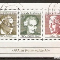 Sellos: ALEMANIA FEDERAL.1969. HB. YT 4. Lote 221667923