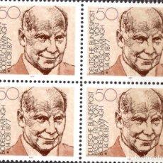 Sellos: ALEMANIA FEDERAL /1977/MNH/SC#1256/ FRITZ VON BODELSCHWINGH BIRTH CENT./ PERSONAJE HISTORICO /BLOQUE. Lote 222234262