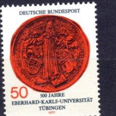 Sellos: ALEMANIA FEDERAL /1977/MNH/SC#1257/ UNIVERSIDAD DE TUBINGEN , 500º ANIVERSARIO. Lote 222234336