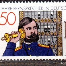 Sellos: ALEMANIA FEDERAL /1977/MNH/SC#1261/ CENTENARIO DEL TELEFONO EN ALEMANIA / TELECOMUNICACIONES. Lote 222234482