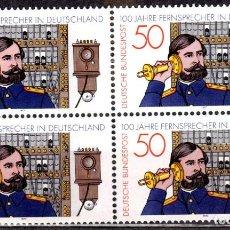 Sellos: ALEMANIA FEDERAL /1977/MNH/SC#1261/ CENTENARIO DEL TELEFONO EN ALEMANIA / TELECOMUNICACIONES /BLOQUE. Lote 222234513