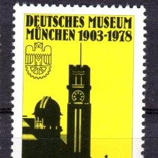 Sellos: ALEMANIA FEDERAL /1978/MNH/SC#1269/ ALEMAN MUSEO DE CIENCIAS NATURALES Y TECNOLOGIA, 75º ANIV.. Lote 222235588