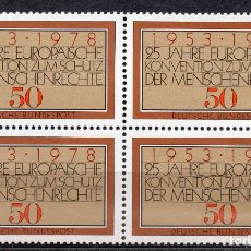 Sellos: ALEMANIA FEDERAL /1978/MNH/SC#1280/ CONVENCION EUROPEA DE LOS DERECHOS HUMANOS 25º ANIV / BLOQUE. Lote 222235733