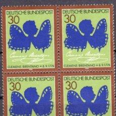 Sellos: ALEMANIA FEDERAL /1978/MNH/SC#1279/ CLEMENS BRENTANO COMO MARIPOSA / POETA / BLOQUE. Lote 222236060