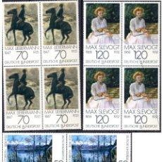 Sellos: ALEMANIA FEDERAL /1978/MNH/SC#1283-5/ PINTURAS IMPRESIONISTAS / ARTE / BLOQUE. Lote 222236188