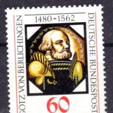 Sellos: ALEMANIA FEDERAL /1980/MNH/SC#1324/ GOTZ VON BERLICHINGEN PINTURA SOBRE VIDRIO / ARTE. Lote 222236231