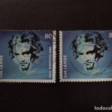 Sellos: ALEMANIA FEDERAL 2020. 250TH ANNIVERSARY OF BIRTH OF LUDWIG VON BEETHOVEN. YT:DE 3297-8. Lote 222511138