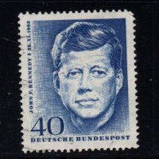 Sellos: ALEMANIA 321 - AÑO 1964 - ANIVERSARIO DE LA MUERTE DEL PRESIDENTE JOHN F. KENNEDY. Lote 222569046