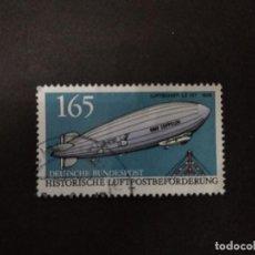 Sellos: ALEMANIA 1991. AIRSHIP LZ-127 GRAF ZEPPELIN (1928). YT:DE 1357. Lote 222606266