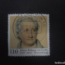Sellos: ALEMANIA FEDERAL 1999. GOETHE, JOHANN WOLFGANG VON (WRITER) 1749-1832. YT:DE 1901,. Lote 222706086