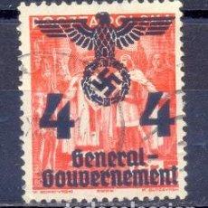 Sellos: ALEMANIA, SOBRECARGADO, GENERAL GOUVERNEMENT, USADO. Lote 227051410