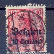 Sellos: ALEMANIA, USADO,SOBRECARGADO BELGIEN. Lote 227053225