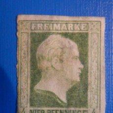 Sellos: ANTIGUO SELLO RARO - FREIMARKE - 4 VIER PFENNINGE - ALEMÁN - PRUSIA 1850, KING FRIEDRICH WILHELM IV. Lote 227252505