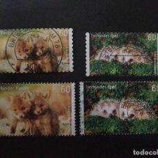 Sellos: ALEMANIA FEDERAL 2014. BABY ANIMALS . SERIE COMPLETA.. Lote 228051065