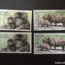 Sellos: ALEMANIA FEDERAL 2001. ENDANGERED ANIMALS. SERIE COMPLETA.. Lote 228056280