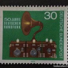 Sellos: ALEMANIA 1973. 50 YEARS OF GERMAN BROADCASTING. YT:DE 635,. Lote 228347015