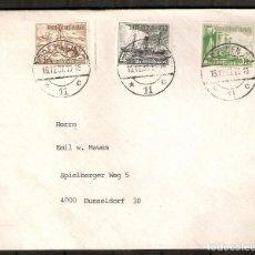 Sellos: ALEMANIA IMPERIO. 1937. SOBRE. MI 651,652,653. Lote 228422590