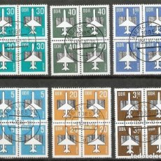 Timbres: ALEMANIA DDR. 1982-84. AÉREO. YT 8 A 13. Lote 229605030