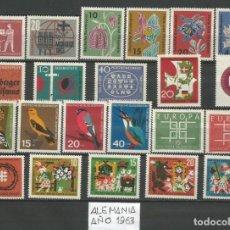 Sellos: SELLOS DE ALEMANIA AÑO 1963 COMPLETO NUEVO. CATÁLOGO YVERT. Lote 269173558