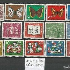 Sellos: SELLOS DE ALEMANIA AÑO 1962 COMPLETO NUEVO. CATÁLOGO YVERT. Lote 269173578