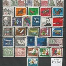 Sellos: SELLOS DE ALEMANIA AÑO 1965 COMPLETO NUEVO. CATÁLOGO YVERT. Lote 269173643