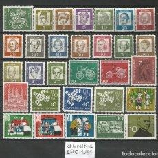 Sellos: SELLOS DE ALEMANIA AÑO 1961 COMPLETO NUEVO. CATÁLOGO YVERT. Lote 269173618