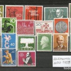 Sellos: SELLOS DE ALEMANIA AÑO 1958 COMPLETO NUEVO. CATÁLOGO YVERT. Lote 269173228