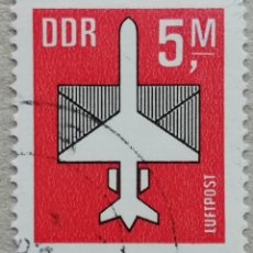 Timbres: 1985. ALEMANIA ORIENTAL. A-14. AVIÓN. SIMBOLOGÍA DEL CORREO AÉREO. SERIE COMPLETA. USADO.. Lote 232472960