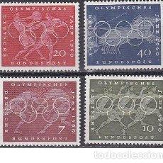 Sellos: LOTE DE SELLOS NUEVOS - ALEMANIA - OLIMPIADAS 1960 - AHORRA GASTOS COMPRA MAS SELLOS. Lote 233607050