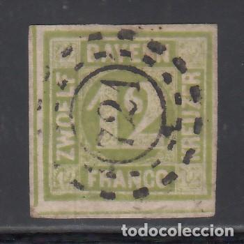 ESTADOS ALEMANES, BAVIERA. 1861-62 YVERT Nº 13, 12 K. VERDE (Sellos - Extranjero - Europa - Alemania)