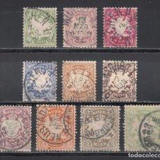 Sellos: ESTADOS ALEMANES, BAVIERA. 1881-1901 YVERT Nº 48 / 57. Lote 234939265