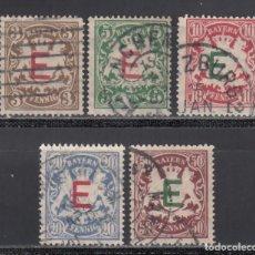 Sellos: ESTADOS ALEMANES, BAVIERA. SERVICIO 1908 YVERT Nº 1 / 5. Lote 234966450