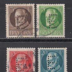Sellos: ESTADOS ALEMANES, BAVIERA. SERVICIO 1914-15 YVERT Nº 12 / 15. Lote 234967030