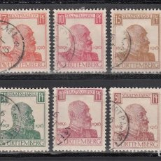 Sellos: ESTADOS ALEMANES, WURTEMBERG. SERVICIO 1920 YVERT Nº 78 / 87. Lote 235581840